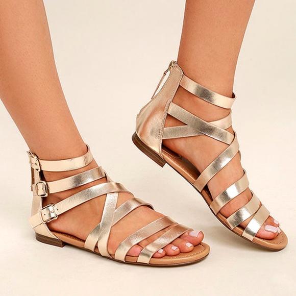 a0a12c9f2a1 Breckelles Shoes - ⚡️SALE⚡️Metallic Gold Gladiator Sandals